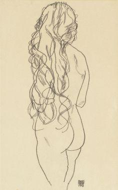 Resultado de imagen de egon schiele drawings