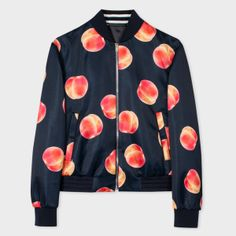 Paul Smith Men s Navy Photographic  Peaches  Print Bomber Jacket Manteau  Imperméable, Manteau Homme 4c6cd465f42