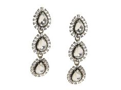 Women's Jem & Jules Moonstruck Drop Earrings - Clear Crystal