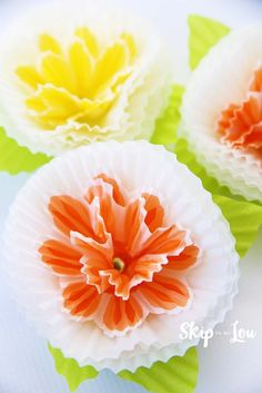 Cupcake Liner Flowers                                                                                                                                                     More
