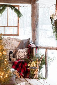 Cabin Christmas, Christmas Love, Country Christmas, Winter Christmas, Christmas Crafts, Christmas Decorations, Christmas Ideas, Hygge Christmas, Tartan Christmas
