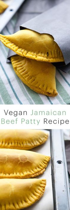This vegan jamaican beef patty is SO authentic tasting that you will never even miss the meat! It's the best vegan recipe this side of the Caribbean- try and prove me wrong!! vegan jamaican patty recipe