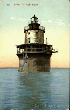 Moonrise over the Butler Flats lighthouse, New Bedford ...