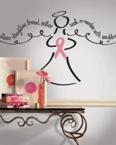 RoomMates Breast Cancer Angel Peel & Stick Giant Wall Decal