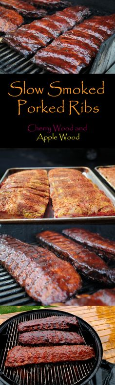 Single Post - Fall-off-the-bone Slow Smoked Pork Ribs! Tender, Juicy and Delicious! Slow Cooking, Smoker Cooking, Cooking Tips, Pellet Grill Recipes, Grilling Recipes, Vegetarian Grilling, Healthy Grilling, Barbecue Recipes, Vegetarian Food
