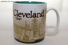 Starbucks Cleveland Global Icon Series Mug Ohio 16 Oz Coffee Love, Coffee Mugs, Starbucks City Mugs, Global Icon, Betty White, Icon Collection, Cleveland Ohio, Tea, Tableware