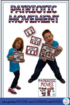 Got Wiggles? These movement activities can help students express the music dynamics, beat and rhythm and burn up some energy. Patriotic Creative Movement Cards are perfect for Music, PE, Special Needs and Classroom Teachers to help students take a Brain Break, Move to music & Feel the Beat.  #veteransdaymusic #musicedveteransdaylessons #musiceducationveteransdaylessons    #elementarymusiced #elementarymusiceducation  #musicandmovement #movementactivities #MusicEducationActivities