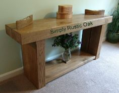 Our bespoke rustic oak large beam console table is perfect for a hallway or living room and handmade to order in an oil or wax finish. Rustic Oak Furniture, Oak Furniture Living Room, Decor, Rustic Furniture, Oak Bedroom Furniture Sets, Furniture, Distressed Furniture, Rustic Console Tables, Shabby Chic Furniture
