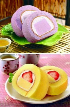 Yummy Bread Cake, Pie Cake, No Bake Cake, Cake Roll Recipes, Dessert Recipes, Swiss Cake, Different Cakes, Asian Desserts, Japanese Sweets