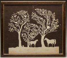 VIRGINIA FOLK ART CUT-PAPER PICTURE Paper Cutting, Cut Paper, Zentangle, Paper Artwork, Paper Snowflakes, Art Cut, Antique Books, Photo Art, Folk Art