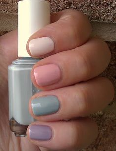 """Essie's 2012 wedding collection.  Not just for weddings...I'm partial to the mint green color, """"Who Is the Boss."""""""