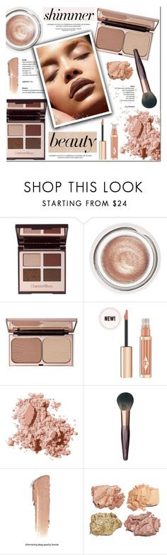"""""""Shine On: Shimmer Beauty"""" by helenevlacho ❤ liked on Polyvore featuring beauty, Bobbi Brown Cosmetics, contestentry, beautyset, highlighter, Charlottetilbury and shimmerbeauty"""