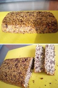 semínkový chléb Sweet Pastries, Bread And Pastries, Low Carb Recipes, Cooking Recipes, Healthy Recipes, Healthy Food, Tasty, Yummy Food, Banana Bread