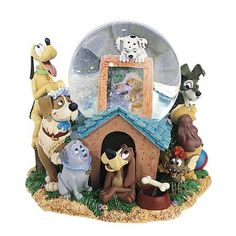 Disney's Dogs Large Musical Snow Globe New In The Box. Snow Globe plays the tune Oh Where Oh Where Has My Little Dog Gone This would make a awesome addition to any Disney Collection If you have any questions please ask. Disney Dogs, Disney Pixar, Disney Magic, Disney Music Box, Chrissy Snow, Casa Disney, Disney Snowglobes, Disney Figurines, Disney Statues