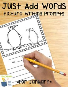 January Picture Writing Prompts - January holidays (New Year's, MLK Jr., Chinese New Year), winter, arctic animals