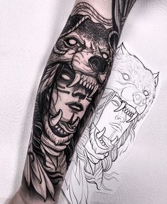 Did this wolf headdress last week! Thanks a lot Darren! I will be in Frankfurt C… Did this wolf headdress last week! Thanks a lot Darren! I will be in Frankfurt Convention next month! Wolf Tattoos, Hai Tattoos, Native Tattoos, Viking Tattoos, Animal Tattoos, Forearm Tattoos, Body Art Tattoos, Girl Tattoos, Tattoos For Guys