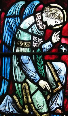Angel Stained Glass Window at St. Vincent Martyr  Catholic Church, Madison, New Jersey