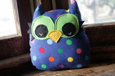 stuffed owl plush owl pillow owl decor owl toy by 5orangepotatoes, $16.00