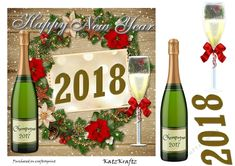 Happy New Years 2018- 2 by Donna Kelly This is a quick and easy New Years card, sheet includes elements, and card front ~7x7.: This is a…