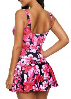 Printed Front Slit Open Back One Piece Swimdress Beautiful Casual Dresses, Sexy Dresses, Plus Size One Piece, Vintage Swimsuits, Pretty Lingerie, Plus Size Swimsuits, Swim Dress, Cute Summer Outfits, Camila