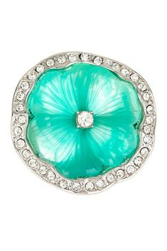 Jade Pansy Flower Adjustable Ring by Kenneth Jay Lane Most Expensive Jewelry, Pansy Flower, Casual Rings, Rings N Things, Beautiful Collage, Shades Of Turquoise, Antique Jewelry, Vintage Jewelry, Adjustable Ring