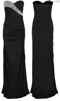 WOMENS DIAMANTE GLAM EVENING COCKTAIL PARTY LONG MAXI DRESS in Clothes, Shoes & Accessories, Women's Clothing, Dresses | eBay