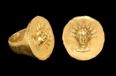 Greek Gold Helios Ring, 5th-3rd Century BC