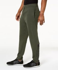 A|X Armani Exchange Men's Fleece Jogger Pants - Green S Fleece Joggers, Jogger Pants, Sweatpants, Fashion Joggers, Laid Back Style, Mens Fleece, Casual, Green, Shopping