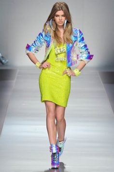 Neon and 90s inspired | Blumarine Fall '12 fashion show