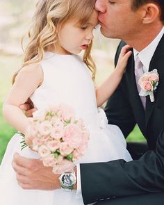 Groom with flower girl. would be adorable since Avery will be the flower girl at our wedding! Perfect Wedding, Dream Wedding, Wedding Day, Gown Wedding, Garden Wedding, Summer Wedding, Lace Wedding, Wedding Dresses, Before Wedding