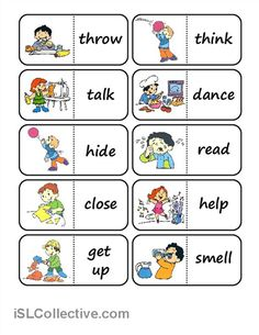 action words domino worksheet - Free ESL printable worksheets made by teachers