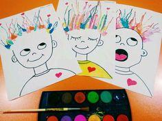 Kids and parenting, kids crafts, summer crafts, toddler crafts, craft proje Toddler Art, Toddler Crafts, Kindergarten Art, Preschool Crafts, Diy For Kids, Crafts For Kids, Kids Fun, Classe D'art, Pinterest Crafts