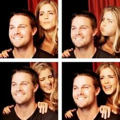 Olicity Stemily Arrow Felicity Smoak and Oliver Queen Emily Bett Rickards and Stephen Amell