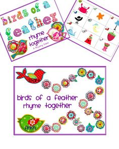 birds of a feather rhyming game Rhyming Pictures, Rhyming Activities, Games To Buy, Phonemic Awareness, Picture Cards, Educational Activities, Nursery Rhymes, Bird Feathers, Preschool Ideas