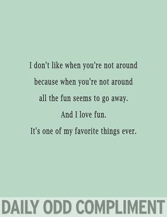 Love Fun - Daily Odd Compliment