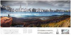 """New York Horizon"" /  Yitan Sun and Jianshi Wu. Image Courtesy of eVolo"