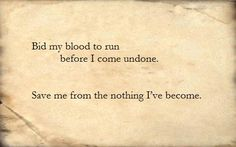 Evanescence - Bring Me To Life Evanescence Lyrics, Amy Lee Evanescence, Life Lyrics, Music Lyrics, My Favorite Music, Favorite Quotes, Metallica Music, Destroy What Destroys You, Bring Me To Life