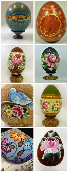 Atelier Gina Pafiadache: Mosaico de ovos pintados