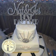 Best day ever cake topper custom made and hand supper in silver glitter - wedding cake topper