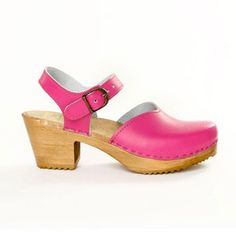 Loving this pink!    Mary Jane Clog Med Fuchsia, $147, now featured on Fab.