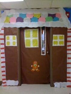 Gingerbread classroom door.