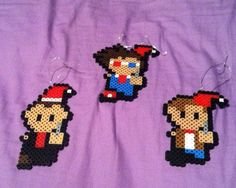 doctor who christmas decorations | Doctor Who Christmas Ornaments perler beads by Michelle W.