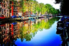 Amsterdam #beautifulplaces Would love to wake up to this view!