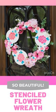 NEW Clear Over Door Wreath Hook Hanger Plastic Martha Stewart