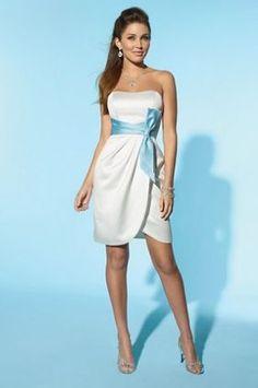 Alfred Angelo Little White Dress Short Informal Wedding Dress 2150 at frenchnovelty.com