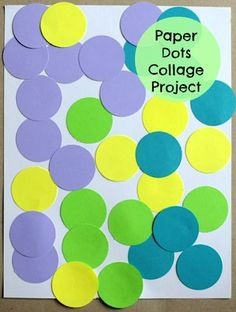 This construction paper craft for kids is so simple and so creative. The Circles and Glue Collage for Kids only uses construction paper, glue, and a circle punch in order to create the pieces for the collage.