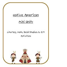 Native American Lessons and Activities ($6)  Activities, games and printables for learning about different Native American groups.