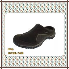 NIB Ryka Brown Outdoor Mules Sz 7.5 Med NEW Womens Outdoor Brown Casual Shoes Athletic 7.5 Medium (B,M)  Ryka Size: 7.5 Medium (B,M) Color: Brown/Teal Retail: $55.00 Condition: New with box Style Type: Casual Shoes Collection: Ryka Nitracel Shoe Width: Medium (B, M) Heel Height: 1 Inches Platform Height: 3/4 Inches Closure: Slide Material: Leather/Fabric Upper/Balance Man Made Fabric Type: Suede Specialty: Signature Ryka Shoes