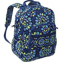 0f3f0b8baddf vera bradley campus backpack in indigo pop. Cant wait to strut around  campus with this baby.