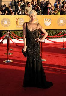 Ashlee Simpson in Jenny Packham and Loree Rodkin Rings